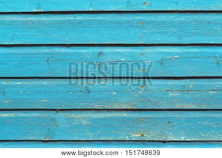 old wooden boards pale blue color texture and background
