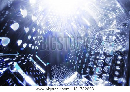 universe space grater abstract background with lights
