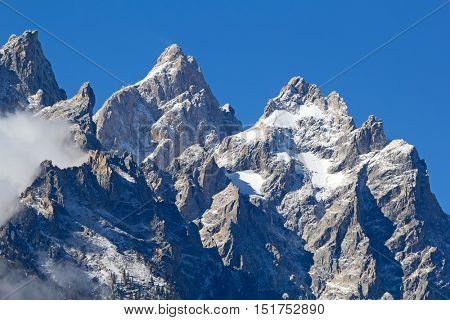 Mount Moran in the Grand Teton National Park, Wyoming, USA