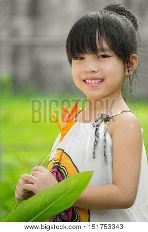 portrait asia children feeling happy . .