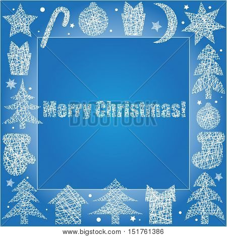 Winter frame for your text or presentation.