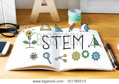 Stem Concept With Notebook