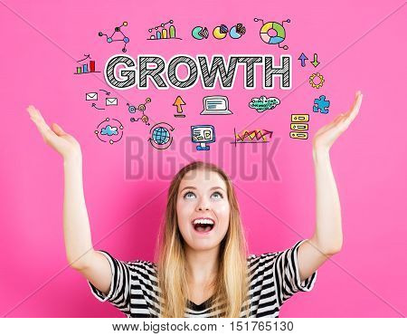 Growth Concept With Young Woman