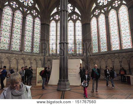 Salisbury Cathedral In Salisbury
