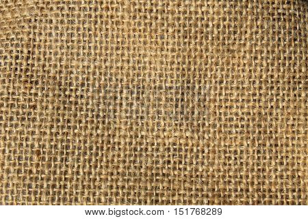 Sackcloth background. Texture of a rustic fabric