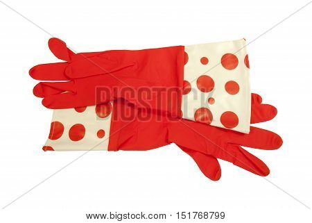 Red long Rubber Gloves for everyday housework