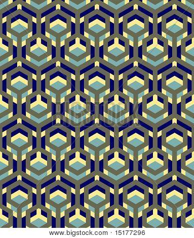 seamless hexagon shadows