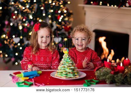Kids Baking On Christmas Eve