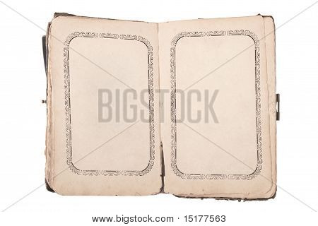 Alte öffnen Buch mit leeren Seiten