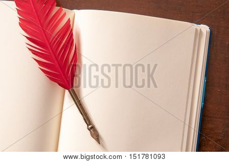 Quill Pen And Sketchbook