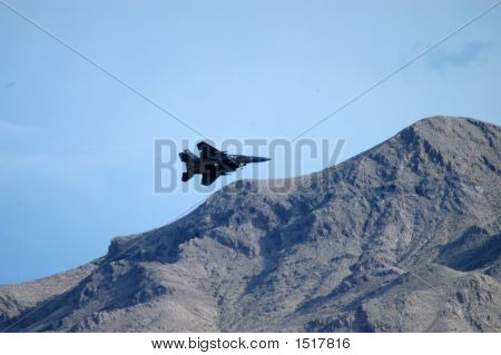 Plane Landing In Mountains