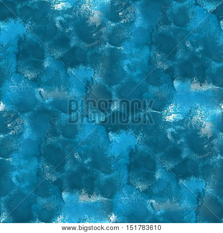 paint abstract water blue sea waves watercolor seamless texture hand painted background
