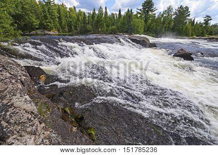 Bald Rock Falls in Quetico Provincial Park in Ontario Canada