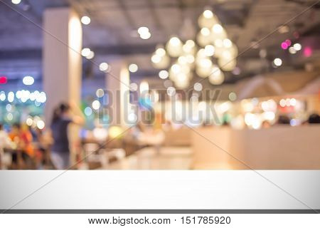 Blur Image In Coffee Shop.