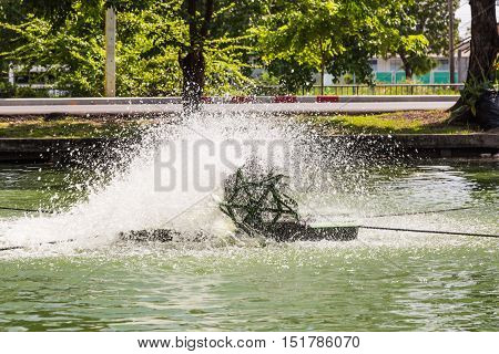 Paddlewheel Water Aeration