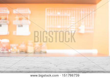 Blur Kitchen Room of The Background (Kitchen foom for use background) , Blurred image of modern kitchen interior for background
