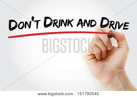 Hand Writing Don't Drink And Drive