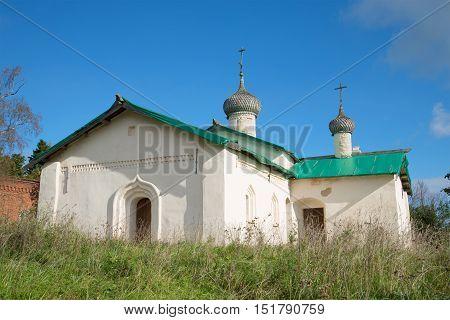 Church of St. Basil the Great (1686) in the village Chernavino. Leningrad region, Russia