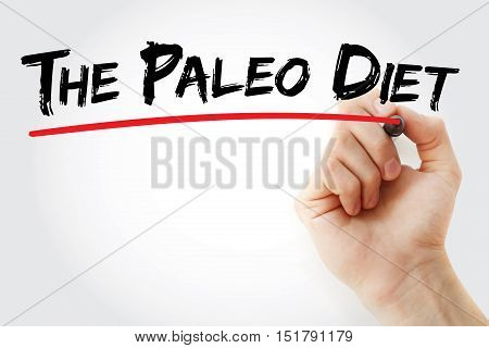 Hand Writing The Paleo Diet With Marker
