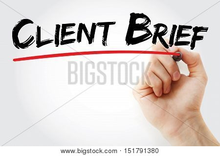 Hand Writing Client Brief With Marker
