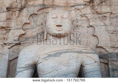 Gal Vihara at ancient city of Polonnaruwa, Sri Lanka.