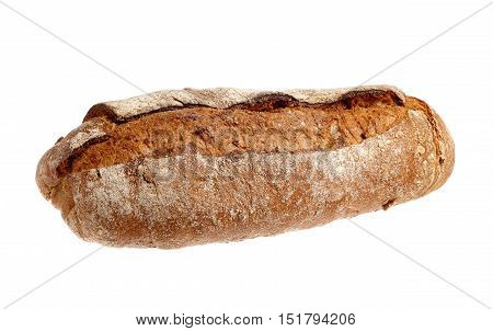 Sourdough bread isolated on a white background.