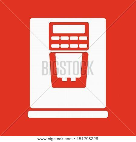 The coffee machine icon. Espresso and latte symbol. Flat Vector illustration