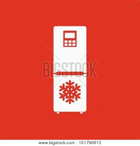 The icebox icon. Fridge and refrigerator symbol. Flat Vector illustration