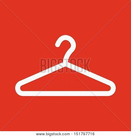 The hanger icon. Coat rack symbol. Flat Vector illustration