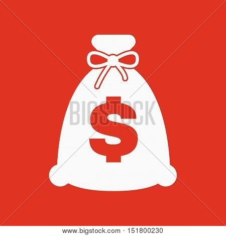 The money bag icon. Cash and money, wealth, payment symbol. Flat Vector illustration