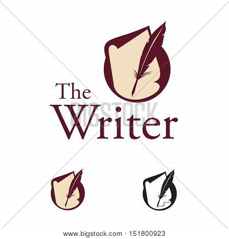 logo of fountain pen and paper suitable for writer