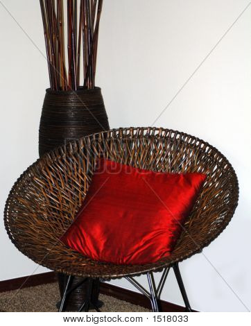 Cadeira de vime redondo