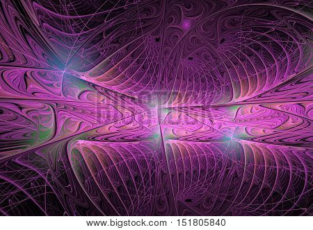 Abstract fractal computer-generated image. Colorful background for creative design.