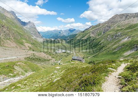a view of veny valley at aosta italy