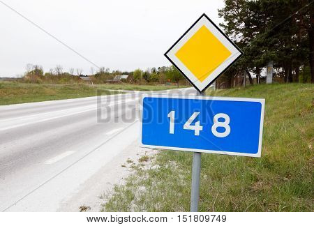 The primary county road 148 in the Swedish province of Gotland