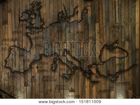 Background Texture Of Old Wooden Wall