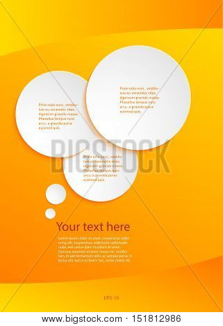 Modern Design infographic style template on white background with numbered 3d effect arrows. Vector illustration EPS 10 for new product newsletters web banners pages presentation
