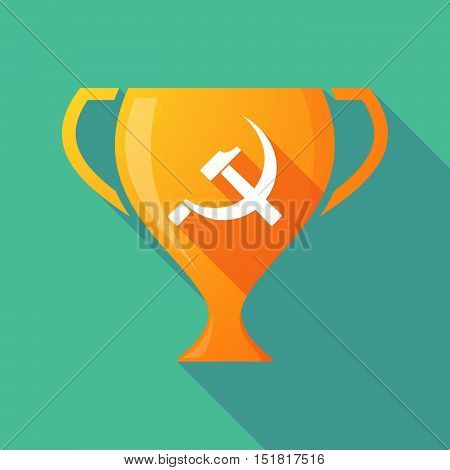 Long Shadow Gold Award Cup With  The Communist Symbol