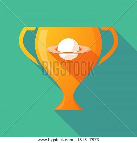 Long Shadow Gold Award Cup With The Planet Saturn