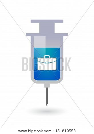 Isolated  Syringe With  A Briefcase