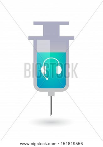 Isolated  Syringe With  A Hands Free Phone Device