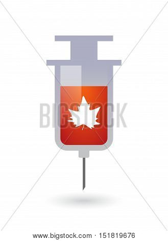 Isolated  Syringe With An Ampersand