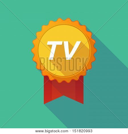 Long Shadow Badge With    The Text Tv