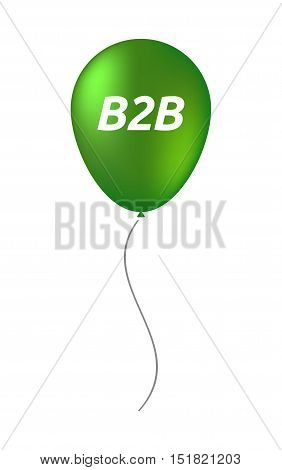 Isolated Balloon With    The Text B2B