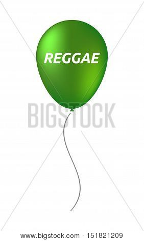 Isolated Balloon With    The Text Reggae