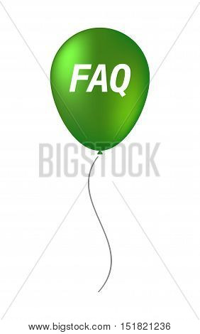 Isolated Balloon With    The Text Faq