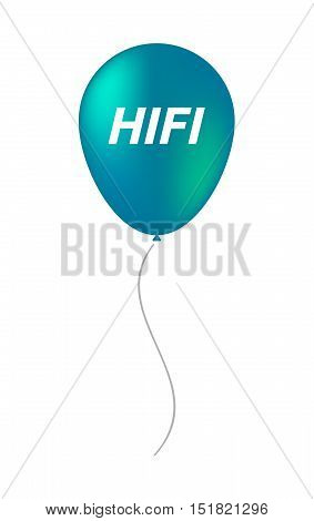 Isolated Balloon With    The Text Hifi