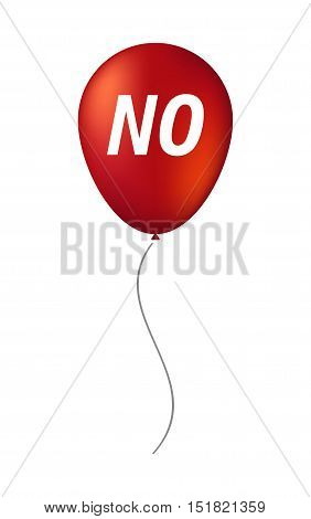 Isolated Balloon With    The Text No