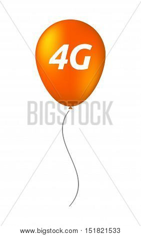 Isolated Balloon With    The Text 4G