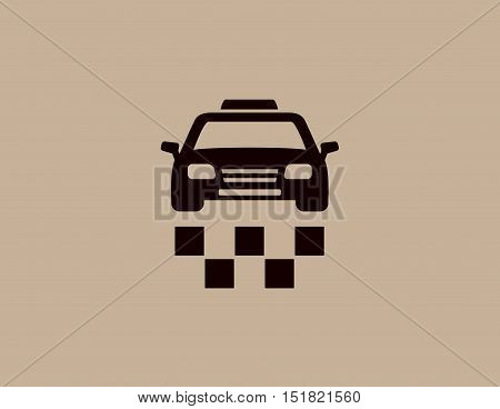 taxi isolated car icon silhouette on background